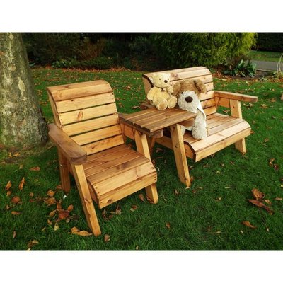 Little Fellas Bench/Chair Combination Set (Straight), wooden garden furniture for children, fully assembled - CHARLES TAYLOR