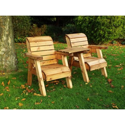 Little Fellas Twin Companion Set (Straight), wooden garden children's furniture, fully assembled - CHARLES TAYLOR