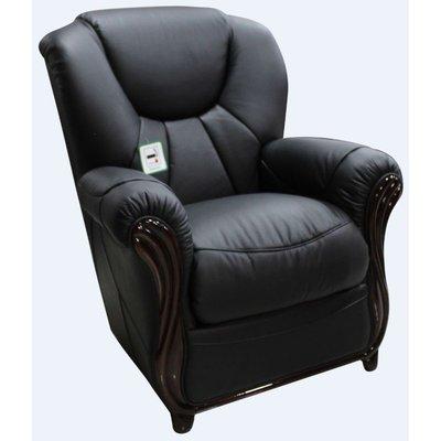 Lucca Genuine Italian Sofa Armchair Black Leather