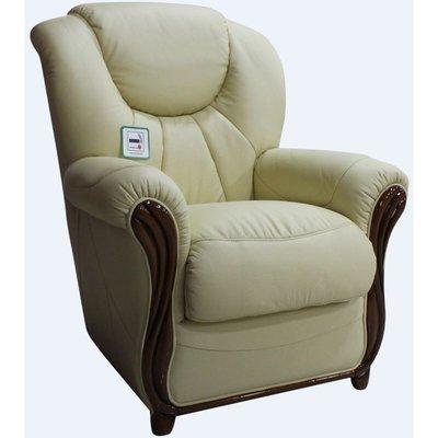 Designer Sofas 4 U - Lucca Genuine Italian Sofa Armchair Cream Leather