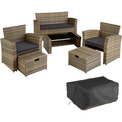 Rattan garden furniture set Modena - garden sofa, garden sofa set, rattan sofa - nature