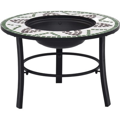 Mosaic Fire Pit Green 68cm Ceramic - YOUTHUP