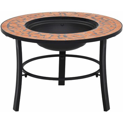 Mosaic Fire Pit Terracotta 68cm Ceramic - YOUTHUP