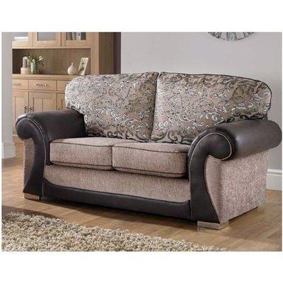 Oasis 2 Seater Fabric Sofa Upholstered In Mercury Mink - DESIGNER SOFAS 4 U