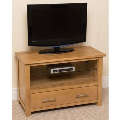 Modern Furniture Direct - Oslo Solid Oak Small TV Cabinet