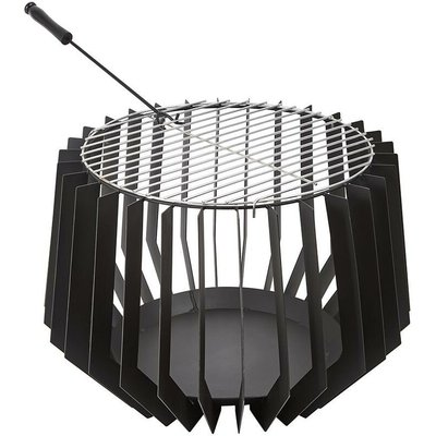 Outdoor Steel Fire Pit Basket Bowl Log Wood Burner Brazier Garden Patio Heater - TRUESHOPPING