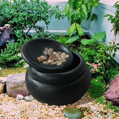 Garden Water Fountain | Outdoor Garden Pot Waterfall Feature FI0031AA-UK - Peaktop