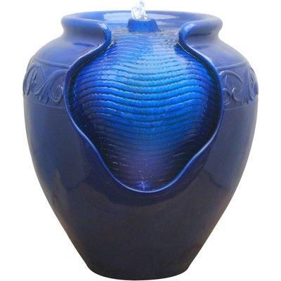 Water Fountain Indoor Conservatory Garden Blue With Lights YG0036AZ-UK - Peaktop