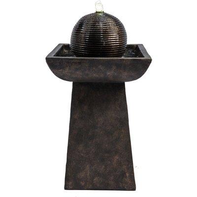 Peaktop Outdoor Garden Patio Charcoal LED Water Fountain Feature VFD8410-UK