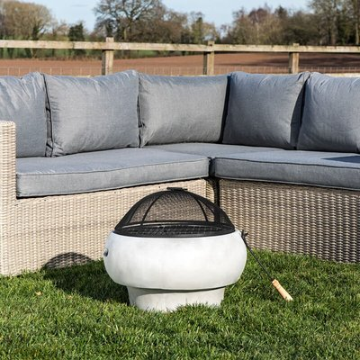 Firepit Wood Burning Fire Pit For Logs Concrete Style, Cover HR17501AB - Peaktop