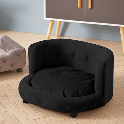 Pet Dog Cat Kitten Puppy Couch Soft Sofa Bed Cushion Mat Chair House Furniture Black - LIVINGANDHOME