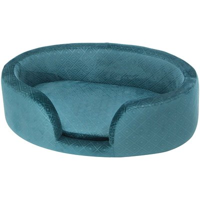Blue Pet Nest House Sofa Bed Cat Dog Home Kennel Round Sleeping Area - LIVINGANDHOME