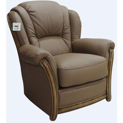 Designer Sofas 4 U - Pisa Armchair Italian Leather Sofa Settee Offer Bark