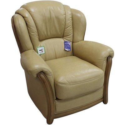 Designer Sofas 4 U - Pisa Armchair Italian Leather Sofa Settee Offer Nut