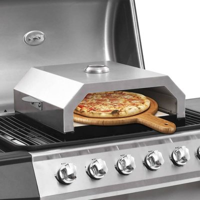 Zqyrlar - Pizza Oven with Ceramic Stone for Gas Charcoal BBQ - Multicolour