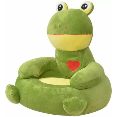 Plush Children's Chair Frog Green - YOUTHUP