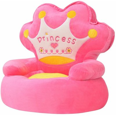 Youthup - Plush Children's Chair Princess Pink