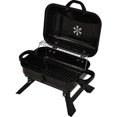 Portable Charcoal Grill Foldable For Outdoor Barbecue 17 inches Black