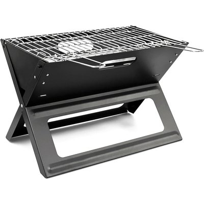 Portable Foldable Picnic Grill Stainless Steel Barbecue BBQ 45.5x30x30.5cm Grilling Charcoal - RELAXDAYS