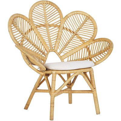 Rattan Peacock Chair Beige FLORENTINE - BELIANI