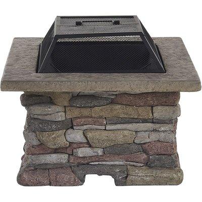 Beliani - Modern Outdoor Fire Pit BBQ Heater Grey Kelud