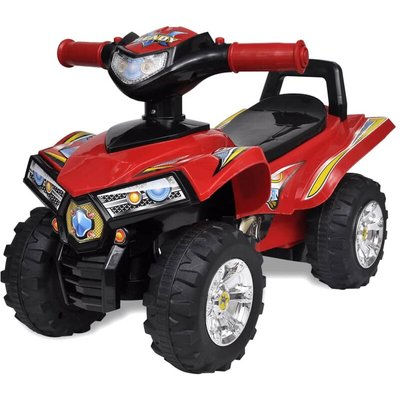 Zqyrlar - Red Children's Ride-on Quad with Sound and Light - Red