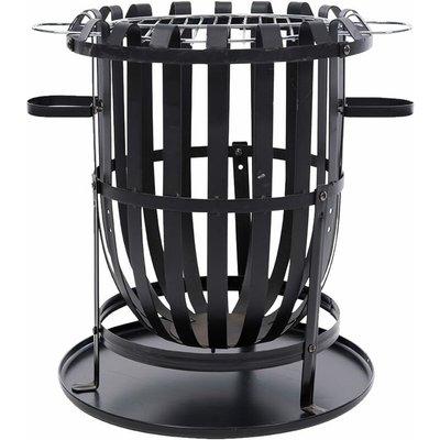 Red Fire - RedFire Fire Basket Dallas Black Steel - Black