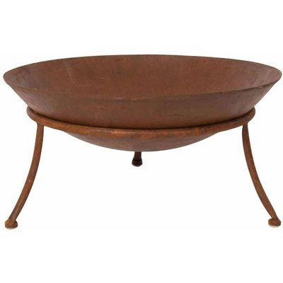 Red Fire - RedFire Fire Pit Tulsa Rust Steel - Brown