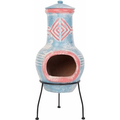 Red Fire - RedFire Fireplace Colima Clay Sea Blue/Red 86031 - Multicolour