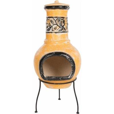 Zqyrlar - RedFire Fireplace Soledad Clay Yellow/Black 86035 - Multicolour