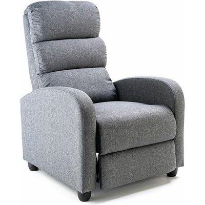 Reegan Single Fabric Grey Recliner Chair