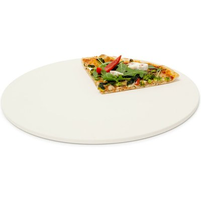 Pizza Stone For Baking Round Stone, Diameter: 33 cm, 1 cm thick, Baking Stone Made Out Of Cordierite For Crunchy Pizzas, Breads And More, In Oven &