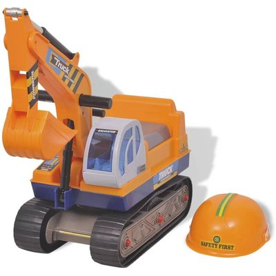 Zqyrlar - Ride-on Excavator Plastic Yellow - Yellow