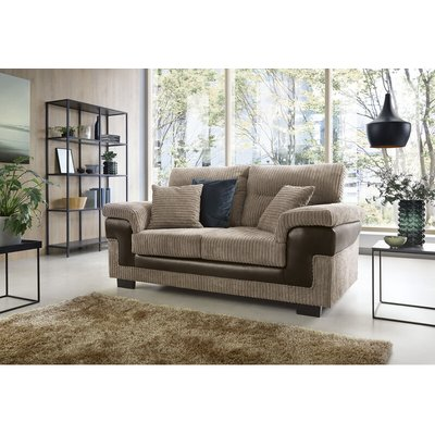 Abakus Direct - Samson 2 Seater Sofa in Brown - color Brown