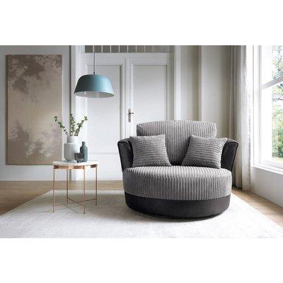 Samson Swivel Chair in Black - color Black - ABAKUS DIRECT