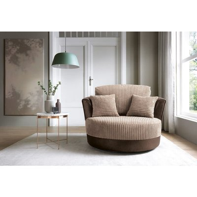 Abakus Direct - Samson Swivel Chair in Brown - color Brown