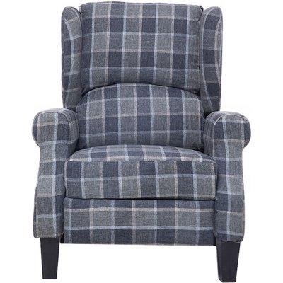 Recliner Chair Single Sofa Armchair Fabric 90*61*66cm Grey - AUGIENB