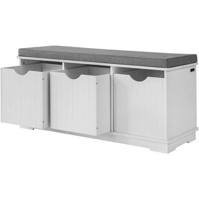 Hallway Padded Shoe Storage Seat Bench Cabinet with Drawer ,FSR30-W - Sobuy