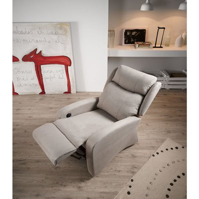 Sol Rise Recline Fabric Armchair - DESIGNER SOFAS 4 U