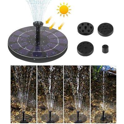 Asupermall - Solar Powered Floating Bird Bath Water Fountain Outdoor Pond Pool Garden Patio