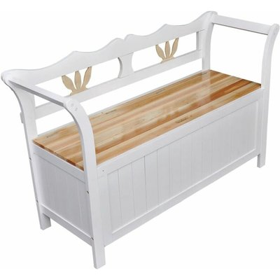 Youthup - Storage Bench 126x42x75 cm Wood White