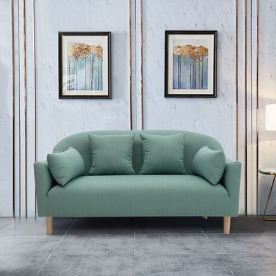 Teal Leisure 2 Seater Sofa With Cushion