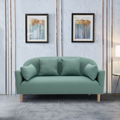 Teal Leisure 2 Seater Sofa With Cushion - LIVINGANDHOME