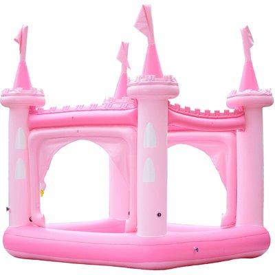 Garden Childrens Pink Castle Inflatable Water Paddling Pool TK-48271P-UK/EU - Teamson Kids