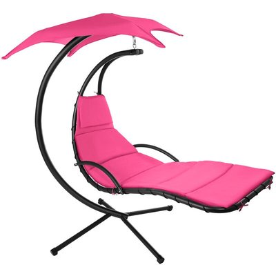 Hanging chair Kasia - garden swing seat, garden swing chair, swing chair - pink