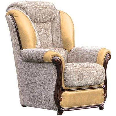 Designer Sofas 4 U - Texas Armchair Genuine Italian Leather Fabric Offer