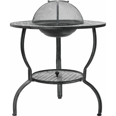 Topdeal Charcoal BBQ Grill Antique Grey 70x67 cm VDTD29572