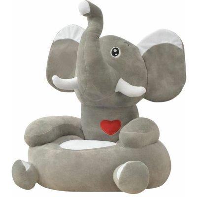 Topdeal Plush Children's Chair Elephant Grey VDTD31830
