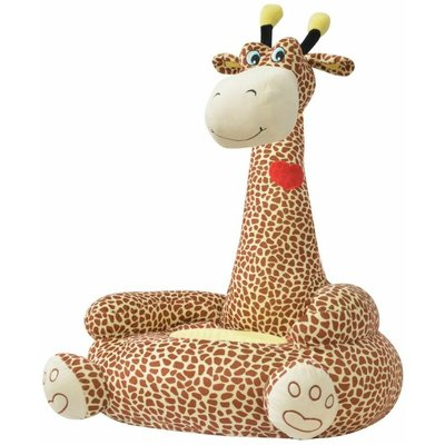 Plush Children's Chair Giraffe Brown VDTD31831 - Topdeal