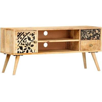 TV Cabinet 100x30x45 cm Solid Mango Wood - VIDAXL